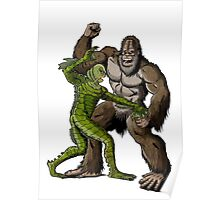 Creature From The Black Lagoon Vs Bigfoot Poster