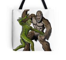Creature From The Black Lagoon Vs Bigfoot Tote Bag