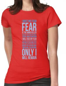 Litany Against Fear (long) Womens Fitted T-Shirt