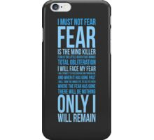 Litany Against Fear (long) iPhone Case/Skin