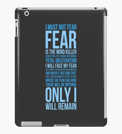 Litany Against Fear (long) iPad Case/Skin