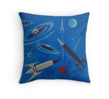 Space Ship  Throw Pillow