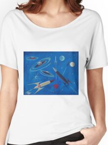Space Ship  Women's Relaxed Fit T-Shirt