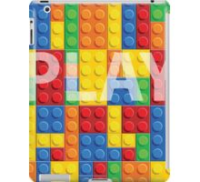Play - seamless vector pattern of plastic parts iPad Case/Skin