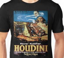 Performing Arts Posters Master mystifier Houdini the greatest necromancer of the age perhaps of all times The literary digest 1950 Unisex T-Shirt