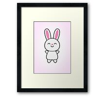 Cute Rabbit / Bunny Framed Print