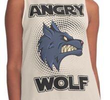 Angry Wolf design halftone save the wolves Contrast Tank