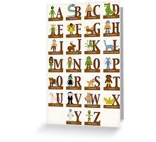 Mythical Creatures Alphabet Greeting Card
