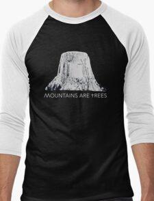 MOUNTAINS ARE TREES  Men's Baseball ¾ T-Shirt