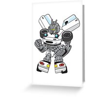 Miata Mx5 Mk1 - JDM Gundam Transformer bot Greeting Card