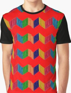 Geometric Composition with Colorful Popsicle Sticks  Graphic T-Shirt