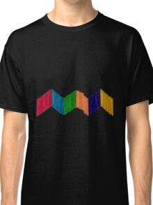 Geometric Composition with Colorful Popsicle Sticks  Classic T-Shirt