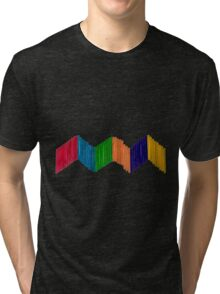 Geometric Composition with Colorful Popsicle Sticks  Tri-blend T-Shirt
