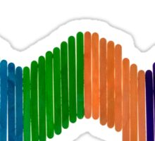 Geometric Composition with Colorful Popsicle Sticks  Sticker