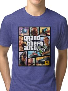 Hot Video Game of Grand Theft Auto V Tri-blend T-Shirt