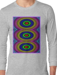"""PSYCHEDELIC MOTION"" 3D Abstract Poster Print Long Sleeve T-Shirt"