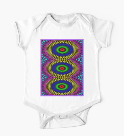 """PSYCHEDELIC MOTION"" 3D Abstract Poster Print One Piece - Short Sleeve"