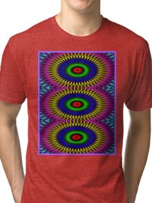 """PSYCHEDELIC MOTION"" 3D Abstract Poster Print Tri-blend T-Shirt"
