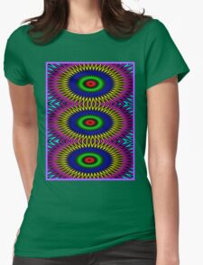 """PSYCHEDELIC MOTION"" 3D Abstract Poster Print Womens Fitted T-Shirt"