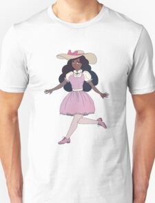 Cute Girl With Pink Dress Unisex T-Shirt