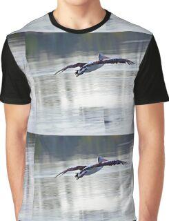 Australian Pelican in Flight Graphic T-Shirt