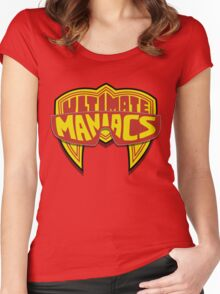 Ultimate Maniacs wrestling Women's Fitted Scoop T-Shirt