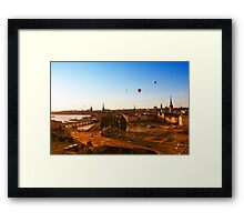 Sunset over Stockholm, SWEDEN Framed Print