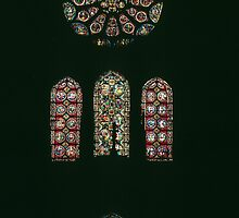 West end Windows Cathedral Notre Dame en Vaux France 198405060086 by Fred Mitchell
