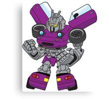 Miata Mx5 Mk1 - JDM Gundam Transformer bot - purple Canvas Print