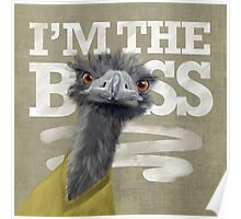 Ostrich. I'm the Boss!  Poster