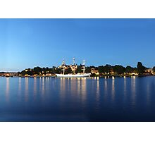 Sailing vessel in the harbour of Stockholm, Sweden Photographic Print