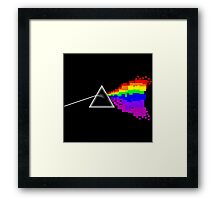 8-bit Dark Side of the Moon Framed Print
