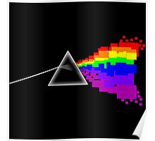 8-bit Dark Side of the Moon Poster