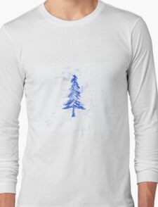 Blue Ice Fir Long Sleeve T-Shirt