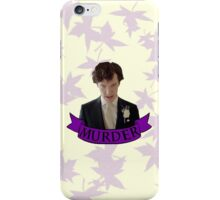"""""""Let's play murder"""" iPhone Case/Skin"""