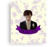 """""""Let's play murder"""" Canvas Print"""