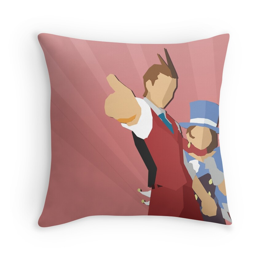 Throw Pillows With Jewels : Apollo Justice: Throw Pillows Redbubble