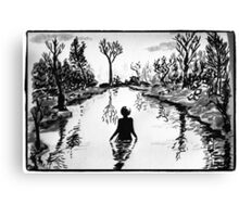 Lady in the Lake Canvas Print