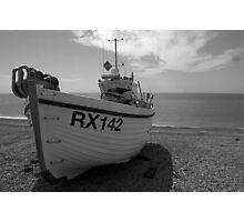 Beach fishing boat Photographic Print