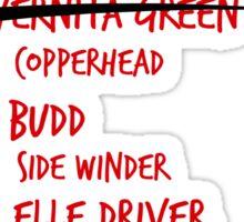 Kill Bill -- The Bride's Death List 5 Sticker