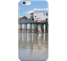 Lowest Tide...Old Orchard Beach & Pier iPhone Case/Skin