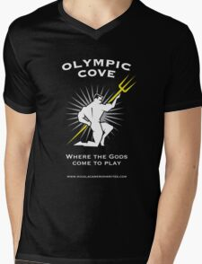 Olympic Cove - Where the Gods Come to Play (Dark) Mens V-Neck T-Shirt