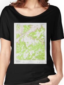 USGS TOPO Map Arizona AZ Red Willow Spring 313076 1970 24000 Women's Relaxed Fit T-Shirt