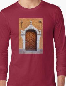 Vintage wooden door Long Sleeve T-Shirt
