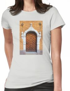 Vintage wooden door Womens Fitted T-Shirt
