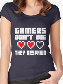 Gamers Dont Die They Respawn Women's Fitted Scoop T-Shirt