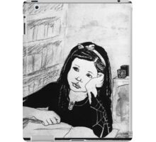 Witch Pupil Tires of Lessons- Ink Drawing iPad Case/Skin