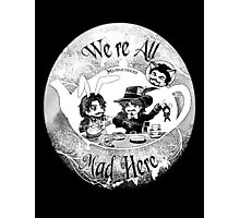 Musketeers Mad Tea Party Ink Effect Photographic Print
