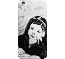 Witch Pupil Tires of Lessons- Ink Drawing iPhone Case/Skin