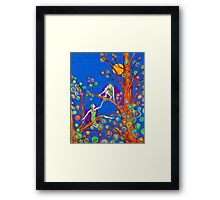 Moonlight Elves Framed Print